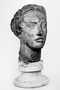 Woman Head Sculpture Prints - SAPPHO (fl. c600 B.C.) Print by Granger