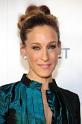 Hair Bun Posters - Sarah Jessica Parker At Arrivals Poster by Everett