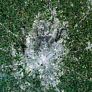 Indiana Photography Posters - Satellite View Of Indianapolis, Indiana Poster by Stocktrek Images