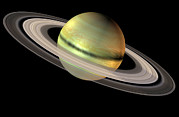 Gas Giant Posters - Saturn And Its Rings Poster by Friedrich Saurer