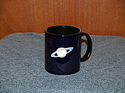 Space Ceramics Framed Prints - Saturn Custom photo reproduction Coffee mug- Side A Framed Print by Ryan Demaree