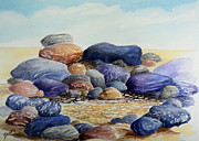 Great Outdoors Painting Originals - Sauble Pebbles by Merv Scoble