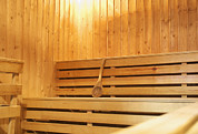 Sauna Framed Prints - Sauna Room Framed Print by Guang Ho Zhu