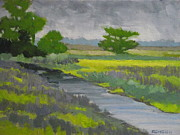 Raining Painting Originals - Savanna  Rain by Robert Rohrich