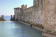 Battlements Prints - Scaliger castle wall of Sirmione in Lake Garda Print by Joana Kruse