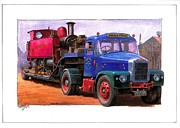 Old Trucks Paintings - Scammell Highwayman. by Mike  Jeffries