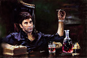 Mafia Pastels Framed Prints - Scarface Framed Print by Ylli Haruni