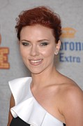 Updo Framed Prints - Scarlett Johansson At Arrivals Framed Print by Everett
