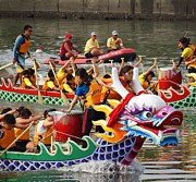 Unity Posters - Scene from the Dragon Boat Races in Kaohsiung Taiwan Poster by Yali Shi