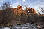 Oak Creek Prints - Scenic View Of Red Rock Crossing Print by Charles Kogod