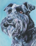 Standard Paintings - Schnauzer by Lee Ann Shepard