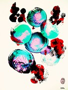 School Of Fugu's Print by Roberto Prusso