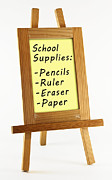Whiteboard Art - School supplies by Blink Images