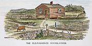 One Room Schoolhouse Prints - SCHOOLHOUSE, 19th CENTURY Print by Granger