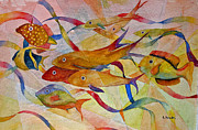 Snorkeling Painting Originals - Schools Out by Alice Kayuha