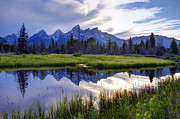 Nez Perce Prints - Schwabacher Landing - Grand Teton National Park Print by Gary Whitton