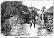 Fly Fisherman Posters - Scotland: Fishing, 1880 Poster by Granger
