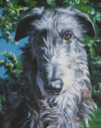Sighthound Framed Prints - Scottish Deerhound Framed Print by Lee Ann Shepard