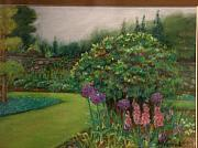 Botanical Pastels Originals - Scottish Garden by M J Venrick