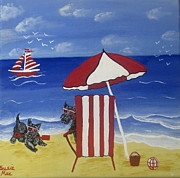 Susan McLean Gray - Scotty fun at the Beach