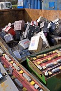 Batteries Prints - Scrapyard Print by Mark Williamson