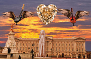 Buckingham Palace Digital Art Metal Prints - Scream Queen Metal Print by Eric Kempson