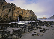 Pfeiffer Beach Photos - Sea Arch At Pfeiffer Beach Big Sur by Tim Fitzharris