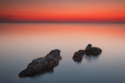Twilight Framed Prints - Sea Rocks Framed Print by Evgeni Dinev