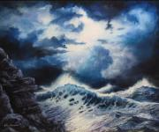 Sunset Reliefs - Sea Storm by John Cocoris
