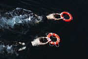 Search And Rescue Swimmers Print by Stocktrek Images