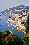 Villefranche Framed Prints - Seaside Town of Villefranche sur Mer in Southern France Framed Print by Jeremy Woodhouse