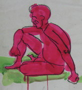 """life Study"" Originals - Seated Man by Kerrin Buck"
