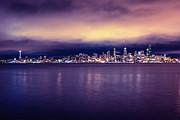 Seattle From Alki Print by Tanya Harrison