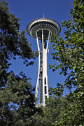 Tower Art - Seattle Space Needle by Adam Romanowicz