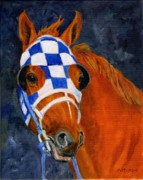 Secretariat Paintings - Secretariat  by Mary Mapes