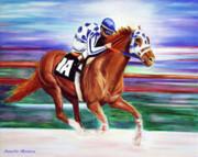 Secretariat Painting Blurred Speed Print by Jennifer Morrison Godshalk