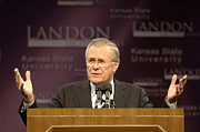 Gesturing Posters - Secretary Of Defense Donald H. Rumsfeld Poster by Stocktrek Images