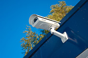 Electronic Watch Prints - Security Camera Print by Hans Engbers