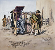 18th Century Photos - Sedan Chair, 18th Century by Granger