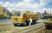 Old Paintings - Seddon at Poole docks. by Mike  Jeffries