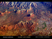 Sedona Framed Prints - Sedona Arizona PLANET eARTh Framed Print by James Bo Insogna