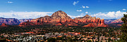 Panorama Mountain Images Prints - Sedona Red Rock Print by Lisa  Spencer