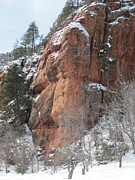 Monolith Framed Prints - Sedona Snow Framed Print by Sandy Tracey