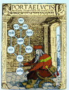 Kabbalah Posters - Sefirothic Tree, 1516 Poster by Science Source