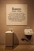 Discrimination Photo Prints - Segregated Water Fountains On Display Print by Everett