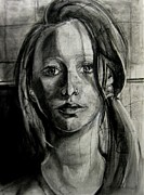Self Portrait Drawings - Self Portrait by Molly Markow