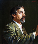 Self-portrait Paintings - Self Portrait  by Patrick Anthony Pierson
