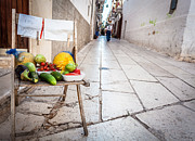South Italy Prints - Selling raw fruits and vegetables Print by Sabino Parente