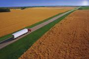 Crops Art - Semi-trailer Truck by Don Hammond