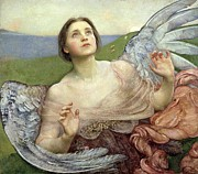 Archangel Painting Posters - Sense of Sight Poster by Annie Louisa Swinnerton